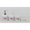 Blumen-dekoratives Badezimmer-Set