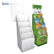 Présentoir / boîtes ondulés portatifs de plancher de carton de magasin de détail pour le produit de cd / dvd