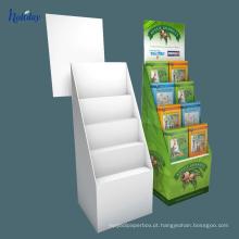 Suporte de exposição portátil do assoalho do cartão ondulado da loja / caixas para o produto de cd / dvd