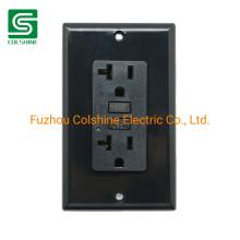 125V 20A GFCI Outlet Receptacle American Standard Sockets Black