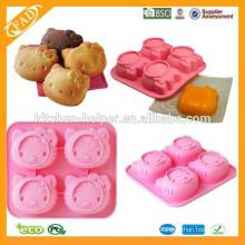 El uso de hornear y China Regional Feature Cake Molde de silicona