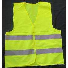 Gilet de sécurité réfléchissant jaune en fil de rayons X en PVC