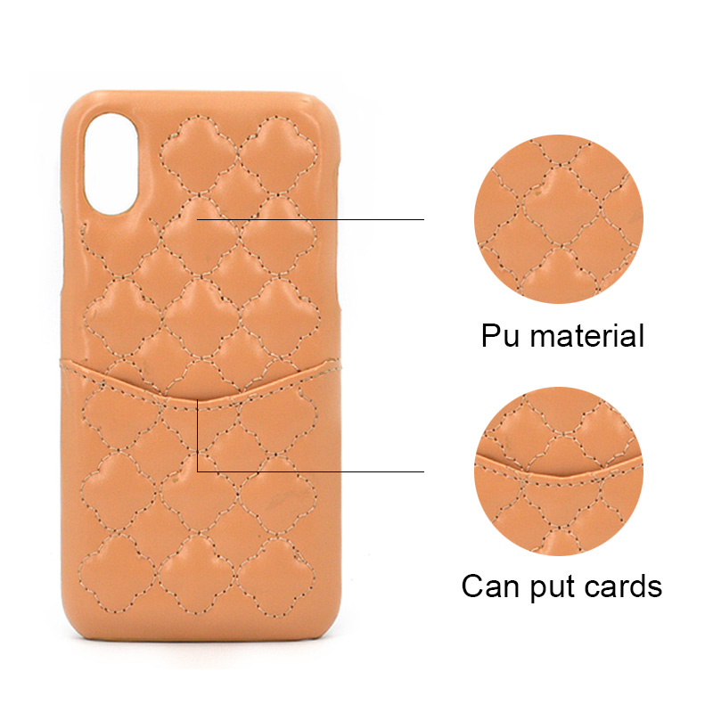 Leather Card Slot Phone Case for Iphone X