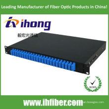 Panel de conexión de fibra óptica de 24 puertos duplex sc 19 pulgadas 1U