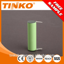 from shenzhen NI-HM with connector 1.2v AA 2200mah rechargeable battery with good discharge performance