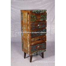 Tall Drawers Chest in reclaimed wood