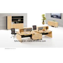 Table de bureau modulaire MFC 4 sièges pour poste de travail Foh-Sf-E3212-B
