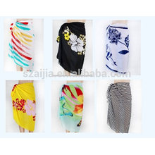 Fashion ladies printed polyester chiffon sarong pareo