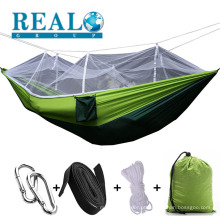 Venda por atacado quente portátil ao ar livre camping único redes com mosquiteiro