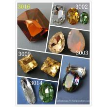 Perles décoratives en cristal clair pour collier