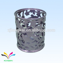 gris hueco en relieve de metal de mesa de metal de mercado titular de la pluma de lujo