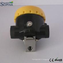 Le chapeau d'exploitation de la lampe LED de casque de sécurité des mineurs 2.2ah des mineurs allume le lithium