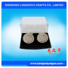 Gemelos de monedas de alta calidad con gemelos