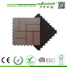 Holz-Kunststoff-Verbundstoff Decking DIY Fliesen Terrasse WPC Decking Fliesen Terrasse Fliesen