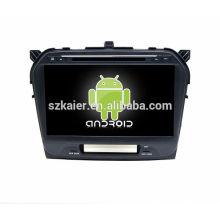 Quad core! DVD de coche con enlace espejo / DVR / TPMS / OBD2 para pantalla táctil completa de 10.1 pulgadas 4.4 Sistema Android SUZUKI GRAND VITARA 2015