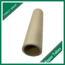 Diseño personalizado Tubo de papel Kraft marrón llano