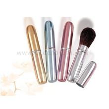 Free Sample Alumnium Griff Kosmetik Pinsel Einziehbare Pinsel