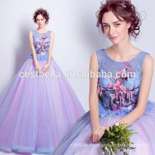 China-Lieferant wholesales rosafarbenes blaues Ballkleid weiches quinceanera Kleid-Abendkleid