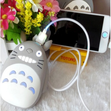 Totoro Cartoon Portable Powerbank Case Traval Batterij Cover