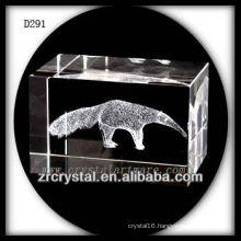K9 3D Laser Subsurface Animal Inside Crystal Block