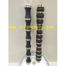 Double Color Hookah Shisha Chicha Smoking Pipe Nargile Plating Aluminum Stem