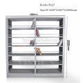 6 layers modern wooden library bookshelf / plexiglass book shelf