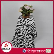 Zebra-Print-Fleece-Decke, 100% Polyester gedruckte Korallen Fleece-Decke