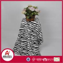 zebra print fleece blanket, 100% polyester printed coral fleece blanket