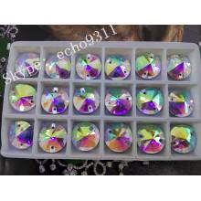 Ab Rivoli Coudre sur des pierres de cristal rondes pour la décoration de vêtements (DZ-1041)