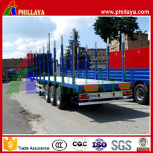 Stake Type Cargo Log Tranport Side Wall Flatbed Trailer