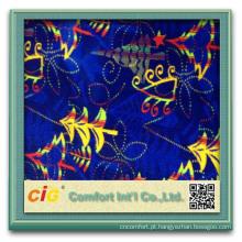 tecido de poliéster personalizado impresso design de tecido