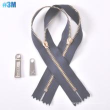 Y Dente Zipper 3 # Metal Zipper, Cadeia Longa
