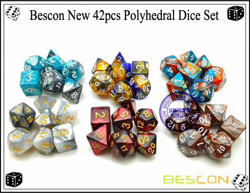 Bescon New 42pcs Polyhedral Dice Set-1