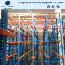 CE-Approved Stainless Forklift Lane Steel Drive in Rack