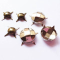 Antique Brass Studs with Faceted for Leather