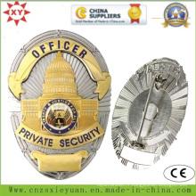 Logo personnalisé en laiton Insignes de sécurité privées