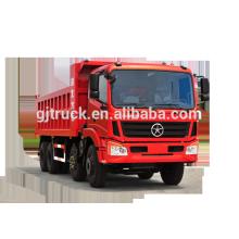 Dayun marca 8X4 drive dump truck para 10-28 metros cúbicos
