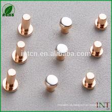 relé elétrico interruptor peças contatos bimetal de ponta de prata