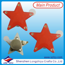 Red Stars Scrolling LED Name Badge