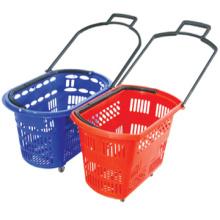 Usine directement vente shopping panier roues plastique plastic roulement de panier shopping shopping panier petit