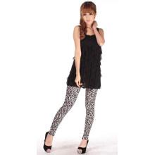 Leggings sexy quentes da senhora Leopardo da cópia, leggings coloridos da grão do leopardo da mulher, leggings com cópia selvagem do leopardo (A1)