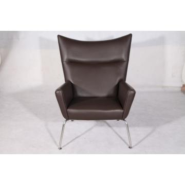 Leren Hans Wegner CH445 Wing Chair Replica