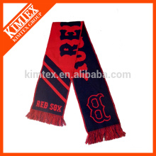 Мода пользовательских вязание шарф команды футбола