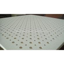 Gipskarton-Standardgröße perforierte akustische Deckenfliese