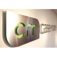 Office Fabricated Stainless Steel Billboard Sign