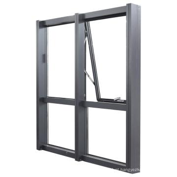 Cortina de paredes de alumínio com estrutura aberta para parede externa
