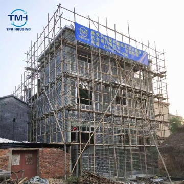 Luxury Structural Stanchions Concrete Prefabricated Steel Structure Building Home Villa House In Europe