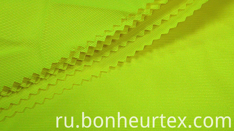 High vis stretch fabric