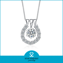 Elegant Lady Necklace avec CZ Stone