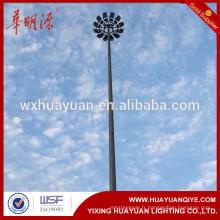 Poteau de mât de 35 m de haut pour Plaza, quai, autoroute, aéroport Moteur haut de LED